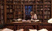 Studying at Hogwarts Library