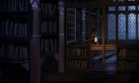 study in the library at Hogwarts